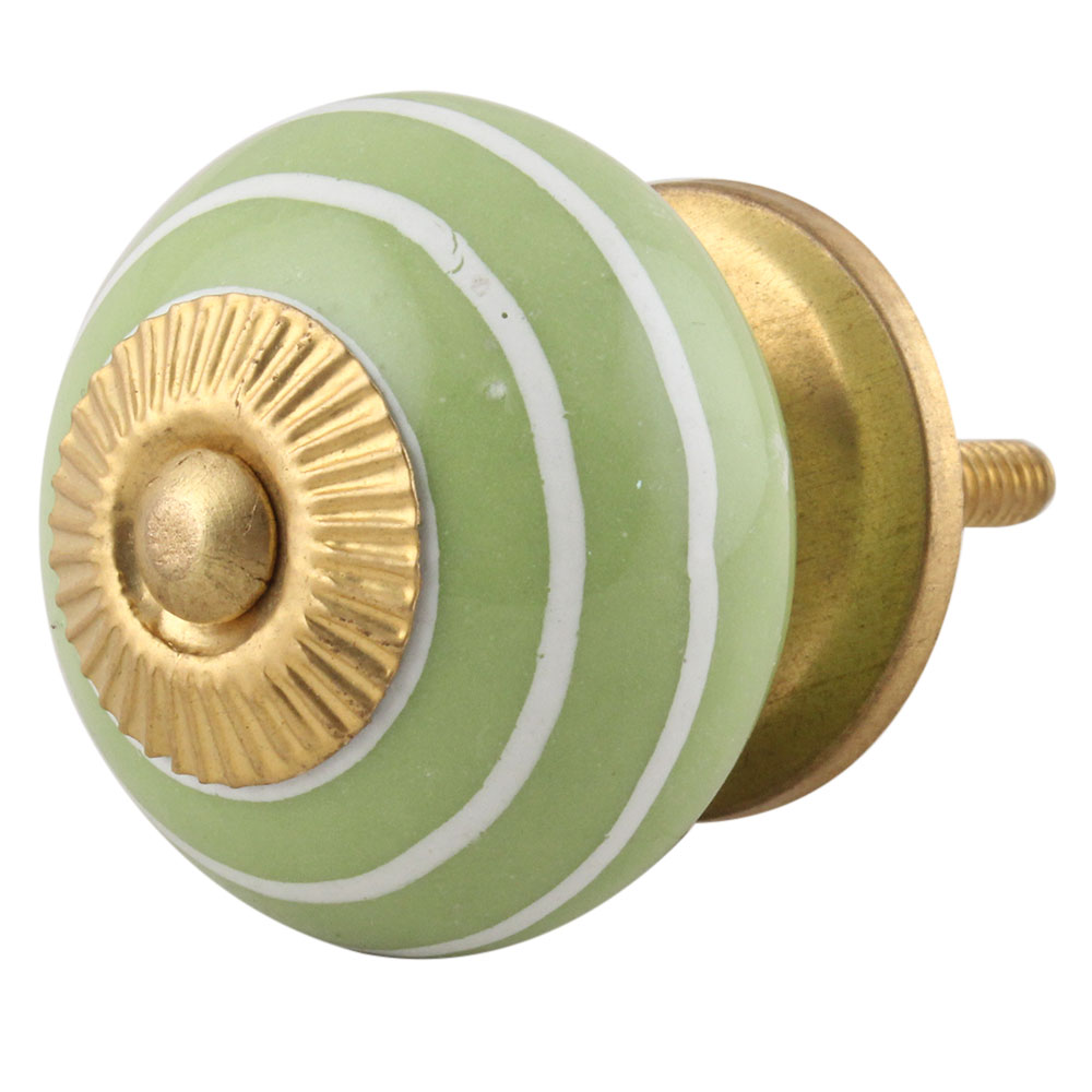 Pea Green White Knob