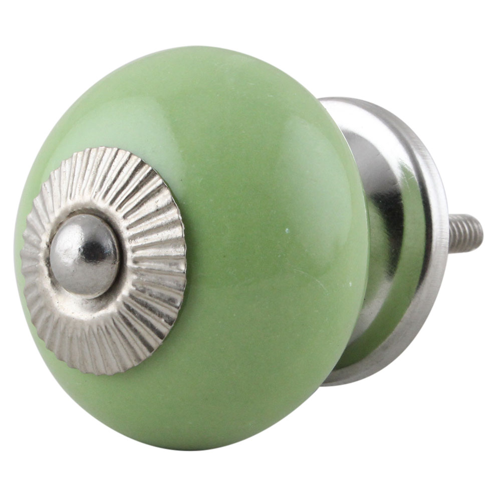 Lime Round Knob