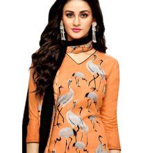 Orange & Grey Mashlin Silk Printed Women's Black  Palazzo Suit