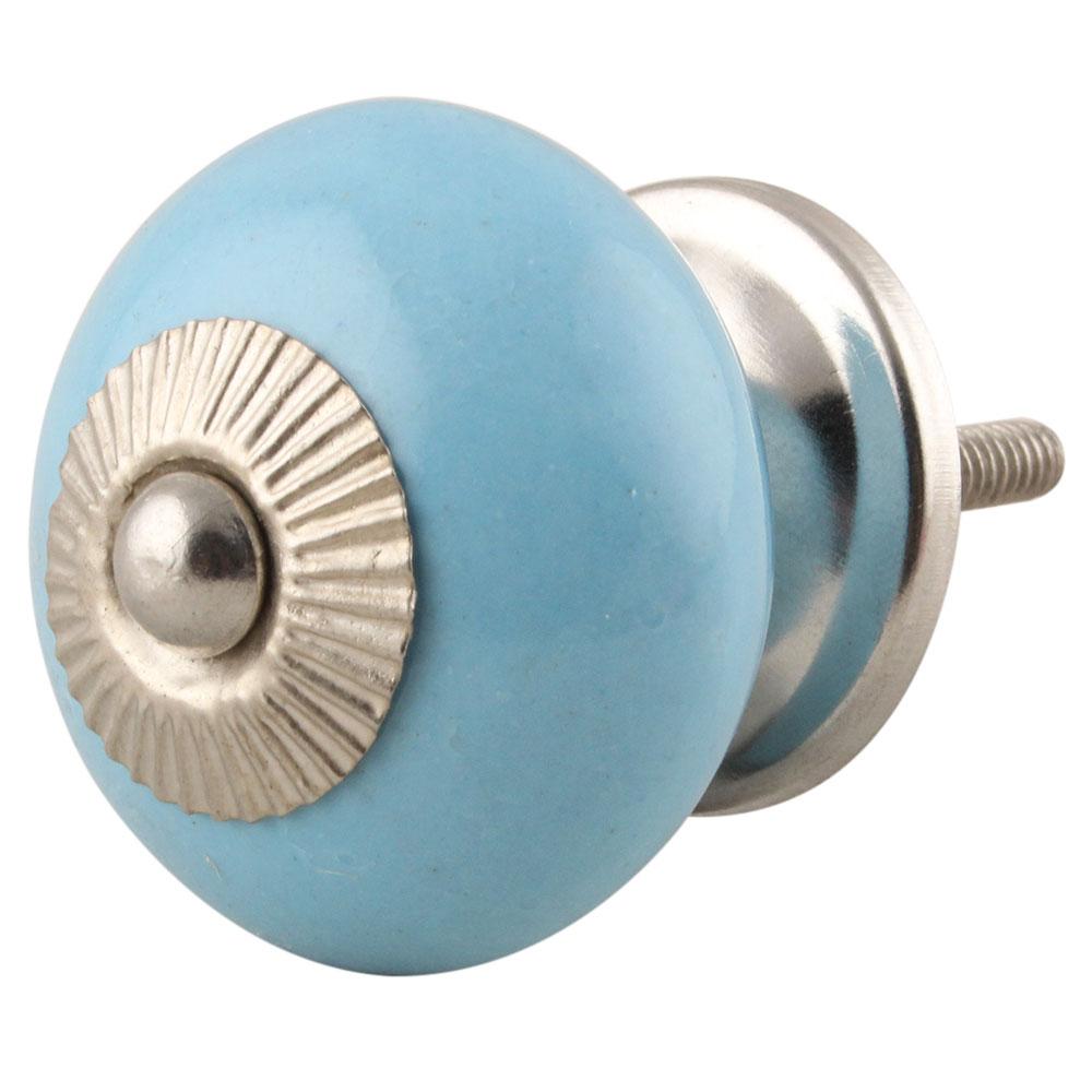 Sky Blue Ceramic Knob