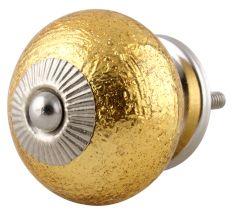 Golden Ceramic Knob