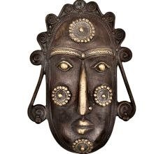 Hand Crafted Tribal Mask Style Wall Hanging Mask