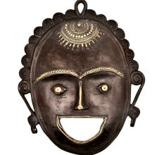 Brass Mask  Of A Tribal Lad Laughing Face