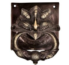 Handcrafted Heavy Demon Faced Brass Door knocker