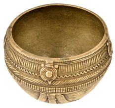 Brass Rice Measurement Wired Decoration Bowl From Orissa
