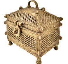 Brass Jali Design Temple Dhokra Style Jewellery Box