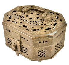 Handcrafted Brass Jewellery Box With Patina
