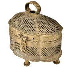 Elegant Mughal Style Jali Brass Storage Jewellery Box