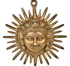 Handmade Brass Wall Hanging Sun Face