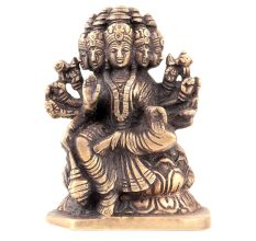 Handmade  Bronze Gayatri Statue with 5 Faces Worship Statue