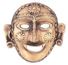 Brass Tribal Wall Hanging Mask Laughing Face Naga Art Lady Head