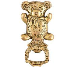 Brass Teddy Bear Bottle Opener