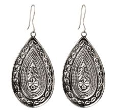92.5 Sterling Silver TribalDangle Statement Earrings