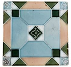 Old Ceramic Tiles Pastel Ceramic Geometric Design Tile