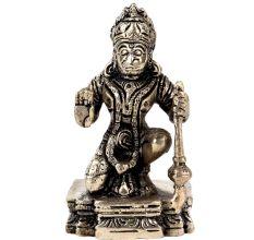Brass Blessing Lord Hanuman StatueSitting Position