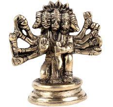 Brass Panchmukhi Hanuman Statue Worship Idol