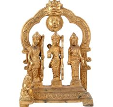 Brass Ramdurbar Statue With Ram, Sita,Laxman And Haumanji
