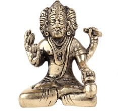 Brass Lord Brahma Statue With Three Heads