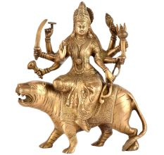 Brass Durga Statue Handmade Adi Parashakti Statue