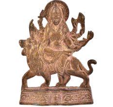 Brass Durga Statue Handcrafted Matatrani Statue