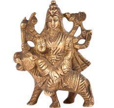 Brass Durga  Statue Sherawali Mata For Puja Navratra Aarti