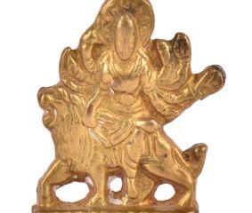 Brass Durga Statue Hand Carved Ritual Goddess Durga Statue