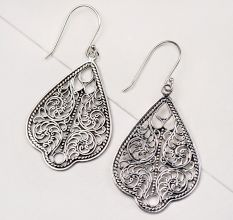 Traditional 92.5 Sterling Silver Drop Earrings