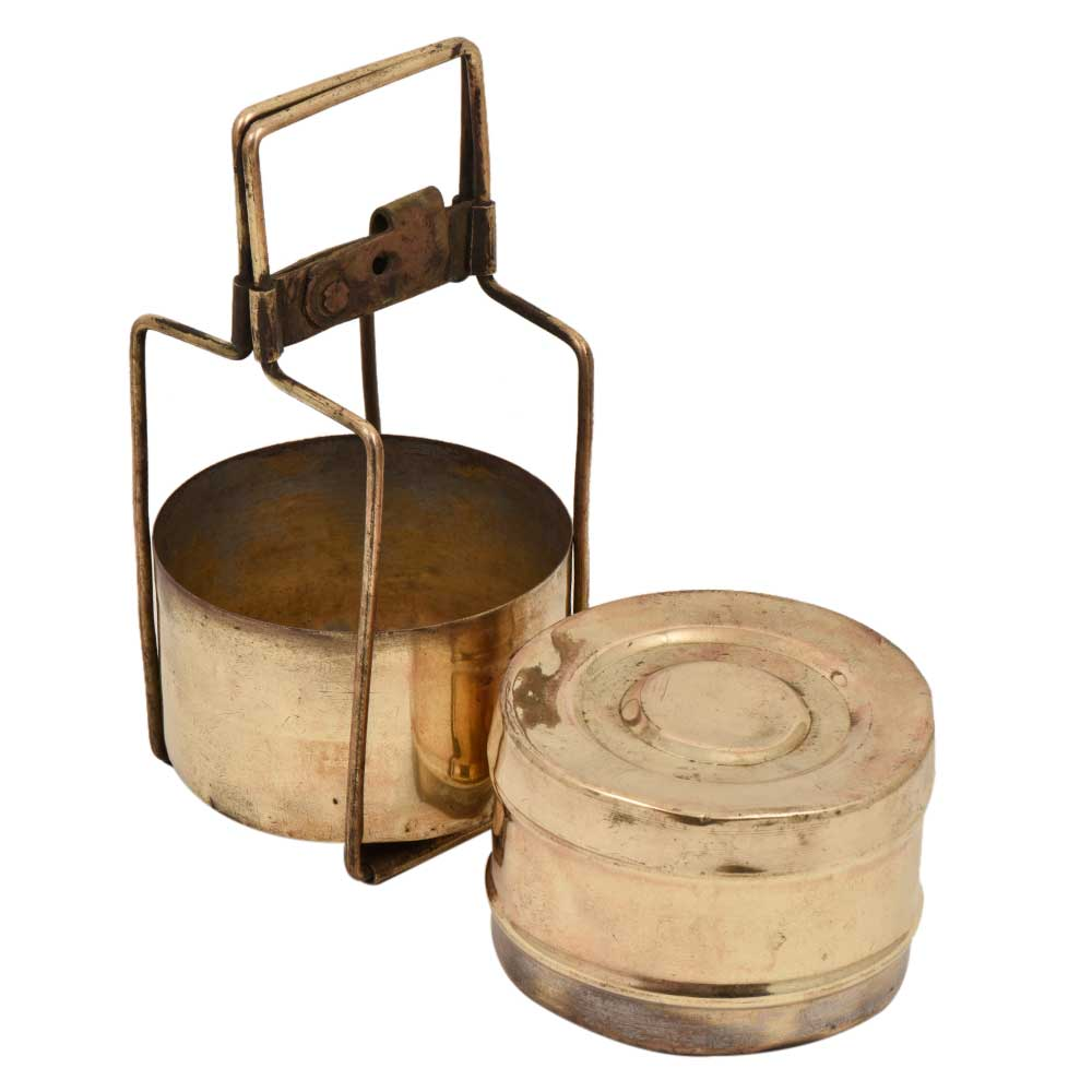 Brass Two Tiered Tiffin Box Kitchen Collection