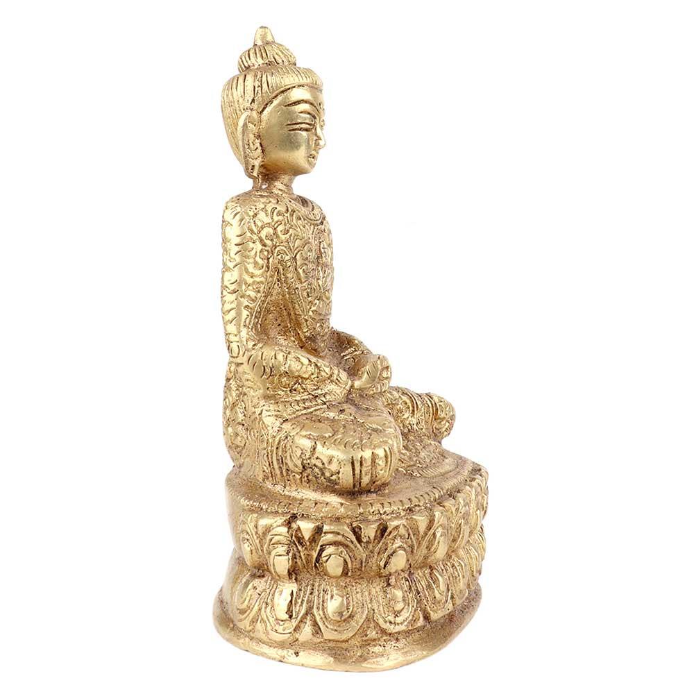 Brass Sitting Meditating Buddha Statue