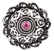 Intricate 92.5 Sterling Silver Ring has embossed petals and Scroll work fashion wear (Free Size)
