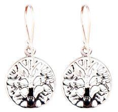92.5 Sterling silver Earrings Tree Of Life Drop Earrings
