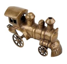 Handmade Brass Steam Engine Showpiece