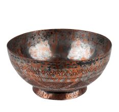 Copper Ornate Bowl With Different Patterns and Designs