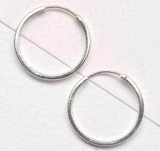 92.5 Sterling Silver Hoop Bali Earrings For Women