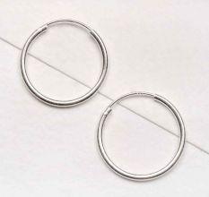 Classic 92.5 Steling Silver Hoop Bali Earrings For Women