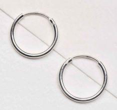 Glossy 92.5 Sterling silver Bali Earrings Hoops Every Day Office Wear