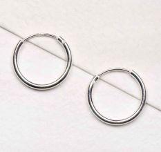 Small 92.5 Sterling Silver Hoop Bali Earrings Fashion Wear