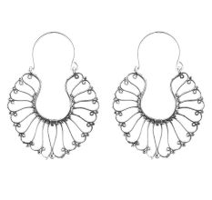92.5 Sterling Silver Bali Earrings Filigree in Necklace Design