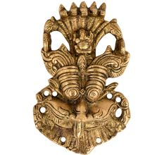Brass Fierce Monster Face Wall Hanging For Home Decoration