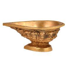 Handmade Brass Oil Lamp Diya Tribal Style