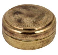 Brass Round Tiffin Box Traditional Shape And Design Storage Box