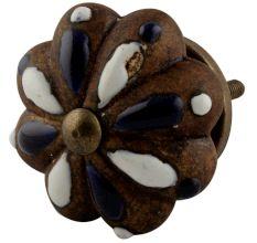 Antique Floral Melon Ceramic Dresser Knobs