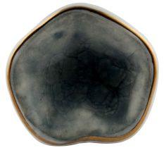 Grey Ceramic Dresser Knob in Silver Fitting