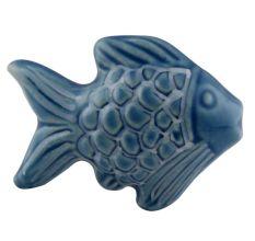 Blue Cute Fish Shape Ceramic Decor pull knobs