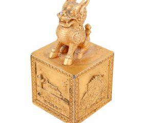 Brass Feng Shui Wealth Foo Dog Lion Beast Statue