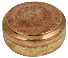Tribal Brass Round Tiffin Box Gift Showpiece