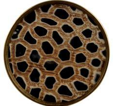 Round Animal Print Horn Brass Cabinet Knobs