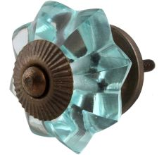 Light Mint Green Melon Glass Cabinet Knobs