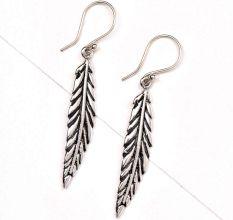Long Indian leaf 92.6 Sterling silver Earrings For Daily Office Wear