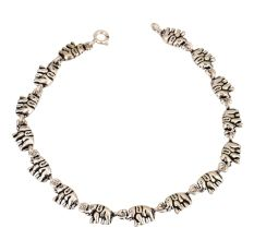 Small Elephant Charms 92.5 Sterling Silver Bracelet